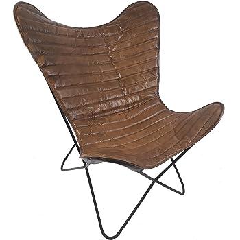 Vintage Sessel Butterfly Loungesessel Leder Streifen Amazonde