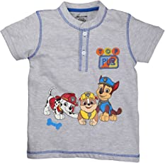 Planet Superheroes Paw Patrol Top Pups Grey Henley Neck T-Shirt
