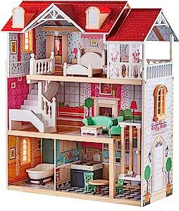Top Bright Puppenhaus Aus Holz Puppenhaus Mit Möbel Und Zubehör Puppen Haus Spielzeug Für Mädchen Spielzeug