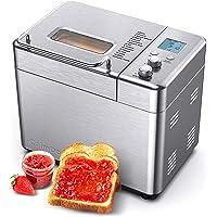 CalmDo Brotbackautomat aus Edelstahl, Automatik Toaster mit 15 Menüoptionen, 500g-1000g Brotgewicht, hausgemachtes…