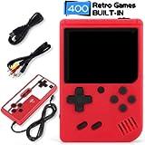 iAmer Console di Gioco Portatile, Portatile con 400 Giochi Classici & Schermo a Colori da 3 Pollici per 2 Giocatori…