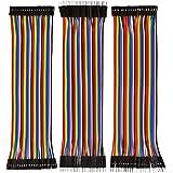 120 st flerfärgad duonttråd 40 stift hane till hona + 40 stift hane + 40 stift hona till hona bakplatta jumper trådar bandkab