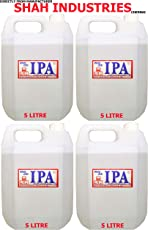 CLEANMAX IPA 99% ISOPROPYL Alcohol (E-Grade) 5L (Pack of 4) to Clean Mobiles/Laptops/LCD Monitors & Electronic Boards - Electronic Services.