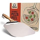 Pelle à pizza de Chef Pomodoro avec lame en aluminium et poignée pliable pour un rangement optimal (30,5 x 35,6 cm) Spatule à