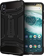 KAPAVER® Moto One Power P30 Note Back Cover Case Drop Tested Shock Proof Carbon Fiber Armor Black (Moto OnePower P30 Note) Limited Pre-Order Discounted Price