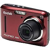 كاميرا رقمية Kodak PIXPRO ملائمة Zoom FZ43-RD 16MP مع تقريب بصري 4X وشاشة LCD 2.7 بوصة (أحمر)