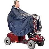 Homecraft Universele scootercape, lichte en waterdichte cape, beschermt gebruikers en scooter tegen regen, inclusief poncho c