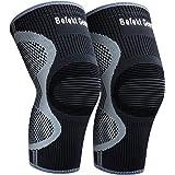 Befekt Gears 2 X Genouillère Rotulienne Crossfit et Ligamentaire, Genouillère Sport de Compression Respirant et Antidérapant