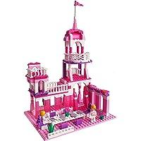Webby Girl's Princess Castle Royal Feast Building Blocks Set, Pcs - 254