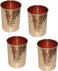 Copper Handgefertigte Becher aus reinem Kupfer für Wasser, Indienstil