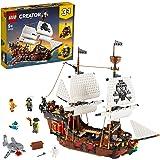 LEGO Creator GaleonedeiPirati, Taverna e Isola del Teschio, Set da Costruzione 3in1 e Idea Regalo, 31109
