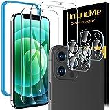 [5 Pezzi] UniqueMe Pellicola compatibile con iPhone 12 Pro Max 6.7 Pollici, [3 Pezzi] Vetro Temperato e [2 Pezzi] Pellicola F