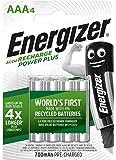 Energizer Batteria ricaricabile Power Plus, AAA, HR03, 1,2 V, 700 mAh, 4 pezzi