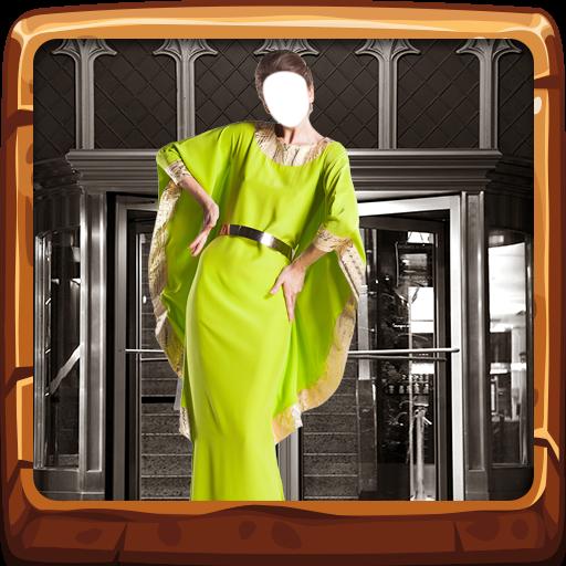 Frauen-lange Kleid-Fotokamera