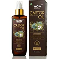 WOW Skin Science 100% Pure Castor Oil - Cold Pressed - For Stronger Hair, Skin & Nails - No Mineral Oil & Silicones, 200 ml