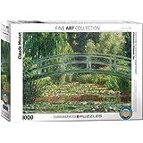 EuroGraphics Puzzle Claude Monet Den japanska fotgängarbron (1 000 delar, flerfärgad)