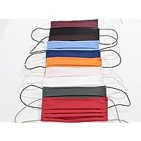 10 Mascherine artigianali in doppio strato di puro cotone colori assortiti con tasca per inserimento ulteriore…