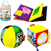 MACIK Giochi Bambini 1 Anno Libri sensoriali + Palla Neonato + Giochi sensoriali per Neonati - Regalo Neonati - Peluche…