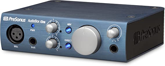 PreSonus AudioBox iOne 2x2 USB iPad Recording System, Blue