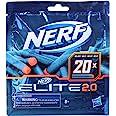 Confezione ricarica 20 dardi Nerf Elite 2.0 - Include 20 dardi Nerf Elite 2.0 ufficiali, compatibile con tutti i blaster Nerf