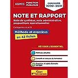 Note et rapport - Méthode et exercices - Concours de catégories A et B - L'essentiel en fiches: Note de synthèse, note admini