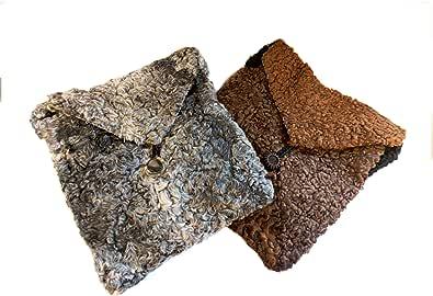 Handgefertigte Damentasche aus reiner weicher Lammwolle, Braun
