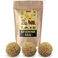 3x Katzenminze Ball | Naturprodukt | Besteht aus 100% natürlicher Katzenminze | Entspannung für Katzen | Katzenspielzeug | Fördert den natürlichen Spieltrieb | Unterstützt die Zahnpflege | 1A Qualität