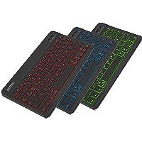 Arteck Bluethooth Tastatur, QWERTZ Deutsche Wireless Tastatur mit 7 Farben Ultraleicht und dünn Tragbare Kabellose…