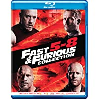 Fast & Furious: 4 Movies Collection (Part 5 to 8) - Fast Five + Fast & Furious 6 + Furious 7 + The Fate of the Furious (4-Disc Box Set)