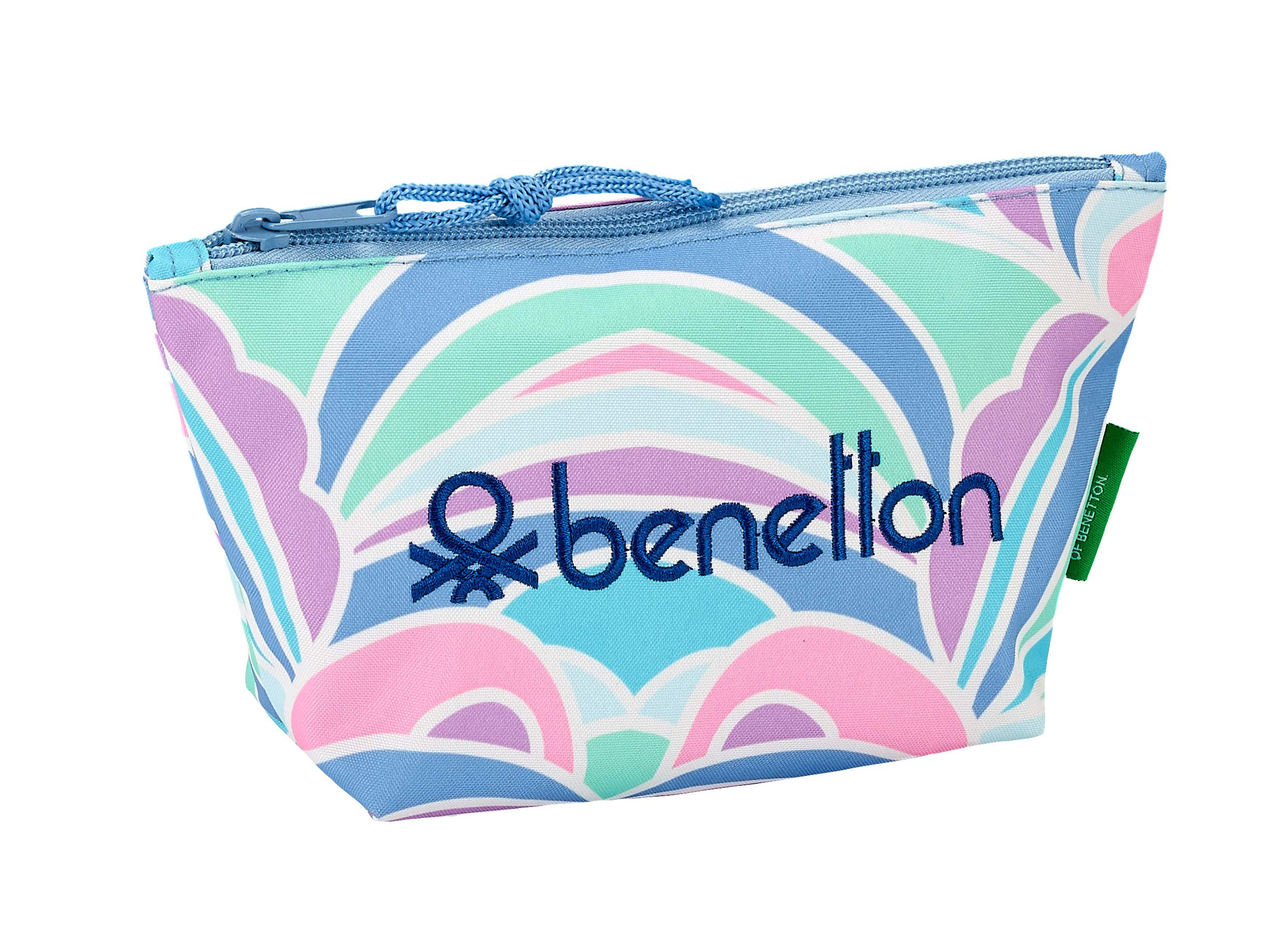 Benetton «Arcobaleno» Oficial Mochila Escolar Infantil Porta Maquillaje 230x80x120mm