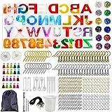 Hars alfabet mal kit, brief siliconen mallen voor sleutelhanger hanger maken set, Gepersonaliseerde DIY-hars Sieradenset