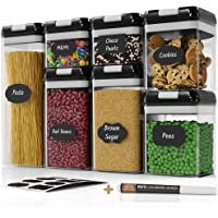Lot de 7 boîtes hermétiques Chef's Path — Boîtes de conservation alimentaire pour rangement de la cuisine — En plastique…