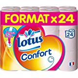Lotus Confort Papier Toilette 2 Épaisseurs Rose, 24 rouleaux