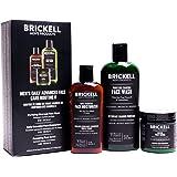 Brickell Men's Gezichtsverzorging Routine II, Gezichtsreiniger Actieve Kool, Gezichtsscrub, Dagcrème, Natuurlijk en Organisch
