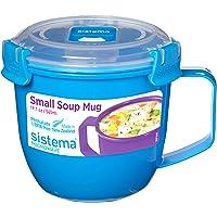 Sistema Microwave Soup Mug to Go-565 ml, Assorted Colours