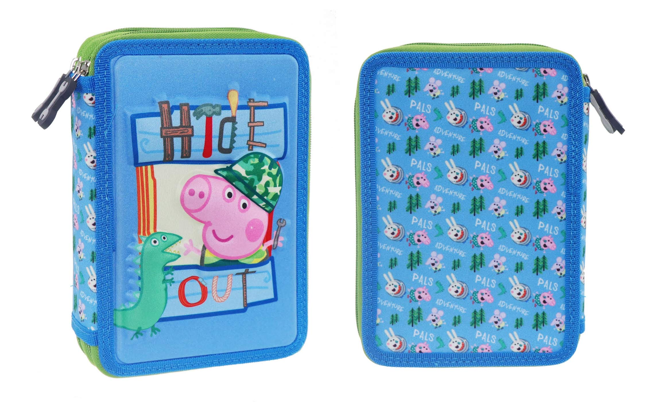 Peppa Pig- Estuches Unisex Adulto Plumier Doble 482428 George 15x5x21 cms,, Talla única (Factory CR 1)