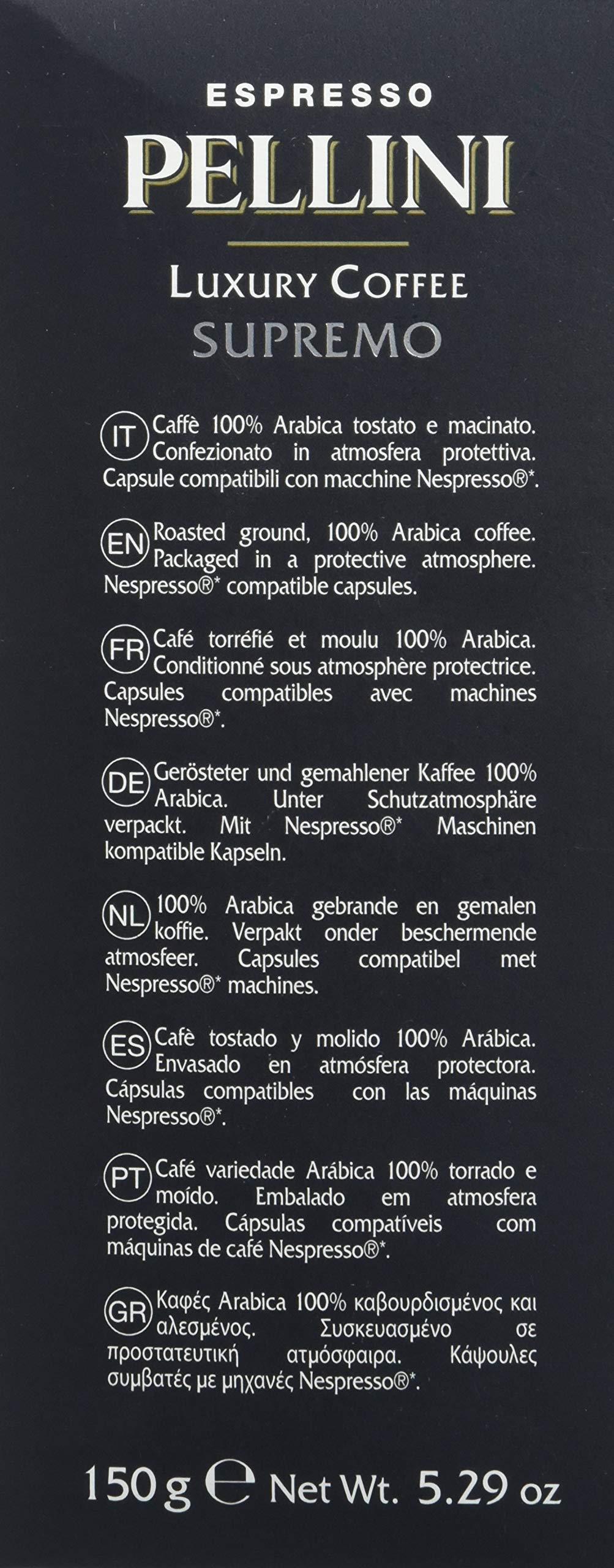 Pellini Caffè - Espresso Pellini Luxury Coffee Supremo (Astuccio da 30 Capsule), Compatibili Nespresso 2 spesavip