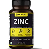 Boldfit Zinc Supplement, 84 Mg Zinc Gluconate | Immunity Booster, antioxidant, recovery & Skin Support for women and men…