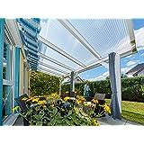 ACRYLSHOP24 Terrassendach Terrassen/überdachung Carport Komplettset Acrylglas 16//32 Farblos Stegplatten Tiefe:3500mm Breite:7130mm Mehrere Ma/ße verf/ügbar