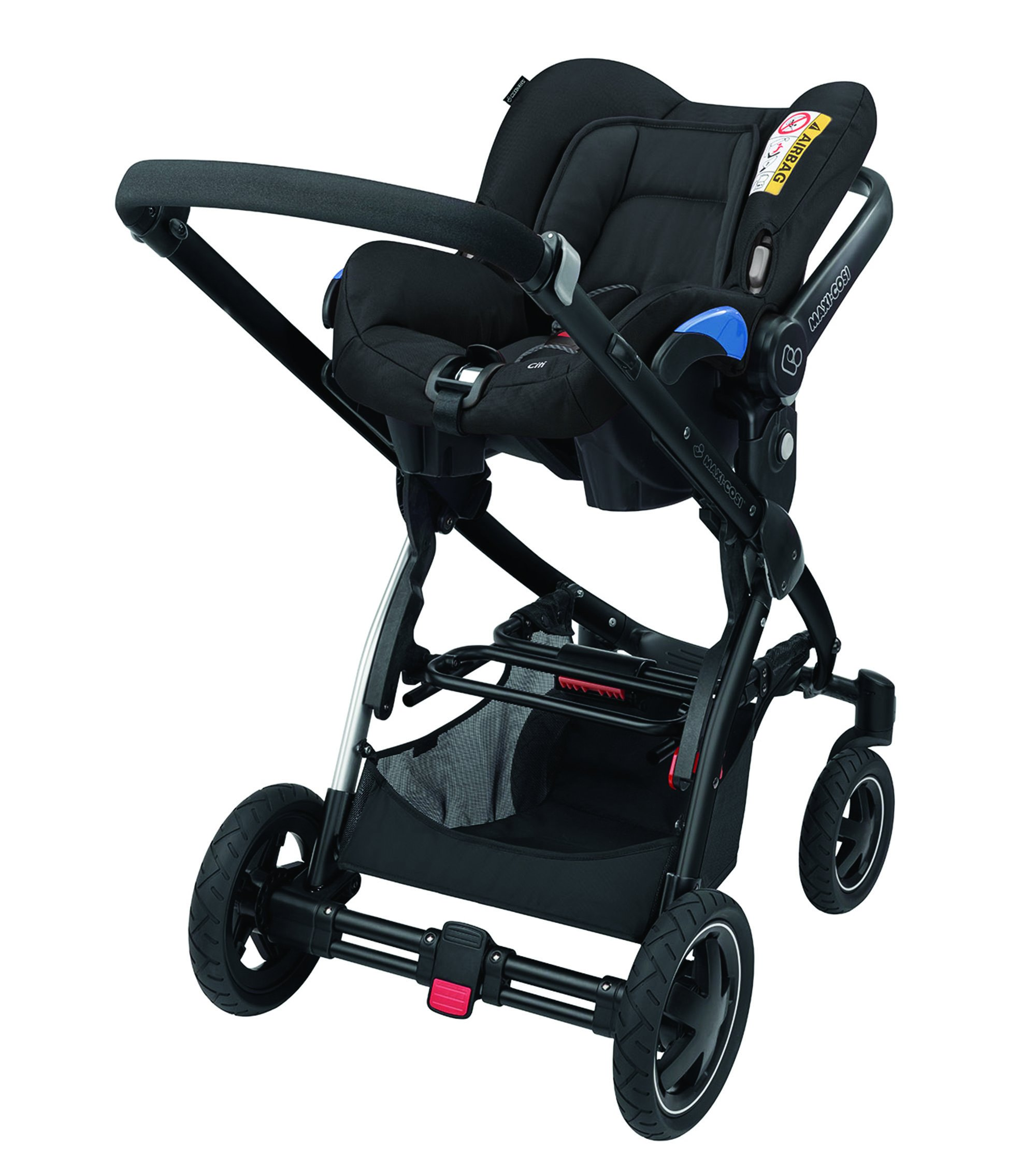Maxi-Cosi Kinderautositz Citi Black Raven Maxi-Cosi Side protection system, guarantees optimal protection in the event of a side impact Lightweight, light weight and ergonomically shaped safety bar for use as carrying handle Practical travel system 11