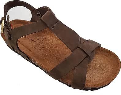Sandalo FRAU FX 58E6 marrone nabuk donna