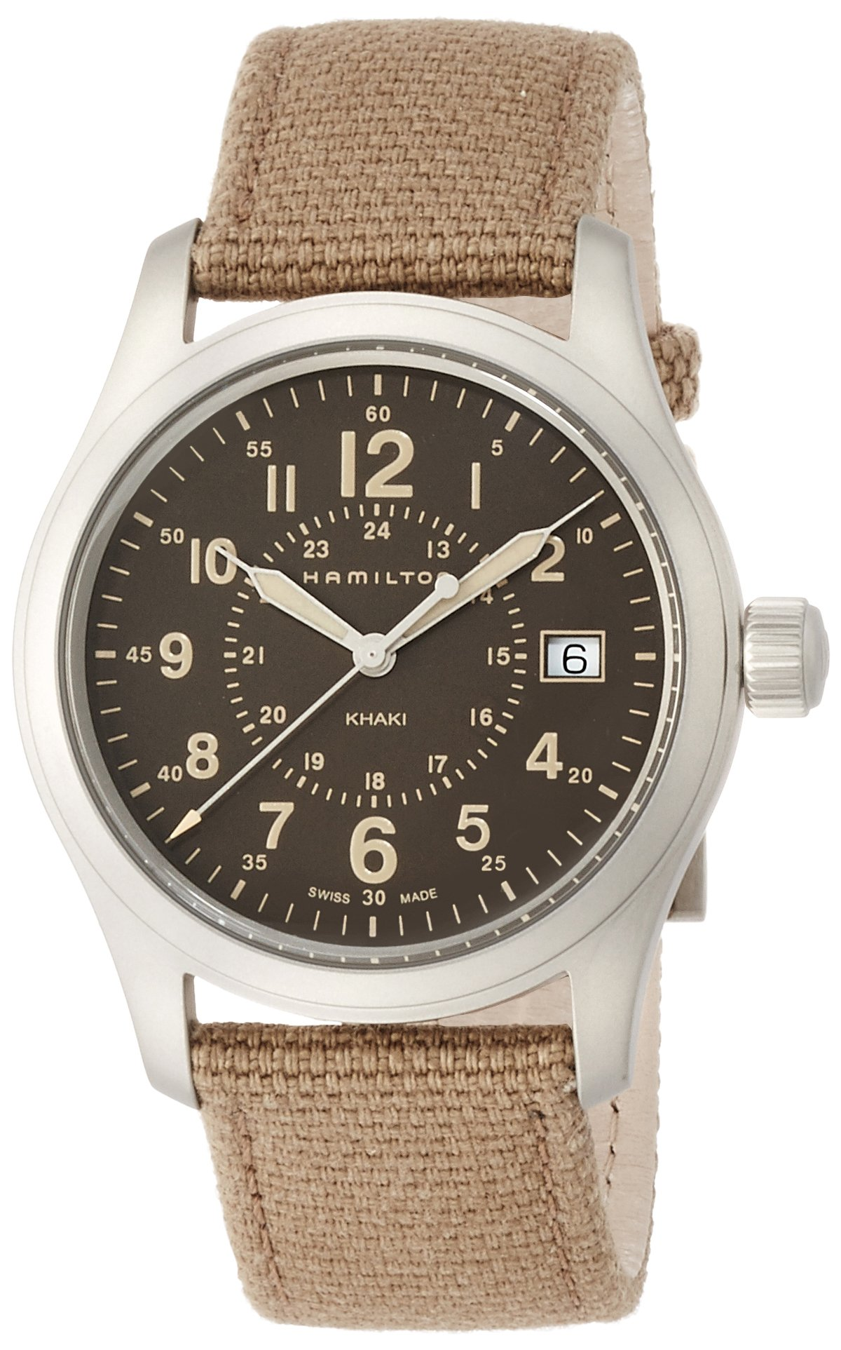 Hamilton Reloj Analogico para Hombre de Cuarzo con Correa en Tela H68201993
