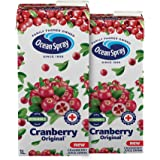 Ocean Spray Cranberry Juice with 20% Cranberry 1 Liter ( Pack of 2 )