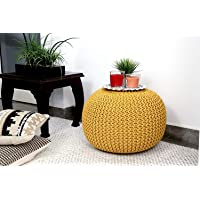 Beautiful Home BeautifulGhar Creations Pouffe for Living Room   Hand Knitted Ottoman Stool   Hand Stitched Foot Stool…