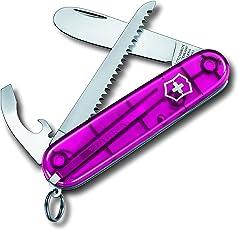 Victorinox Kinder Taschenmesser My First Victorinox H (9 Funktionen, Runde Klinge, Kette, Kordel)
