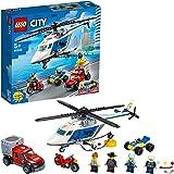 LEGO City Inseguimentosull'ElicotterodellaPolizia con Quad ATV, Moto e Camion, Set da Costruzione per Bambini dai 5 Anni i