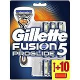 Gillette Fusion5 ProGlide scheerapparaat voor mannen met 10 scheermesjes