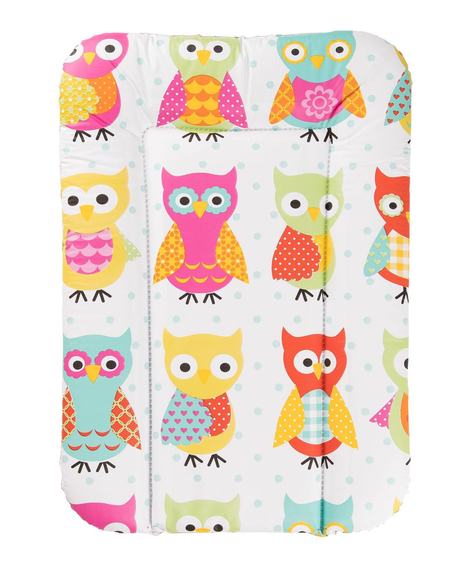 Geuther - Nappy Changing pad 5832, Owls  Colourful, modern owl design Soft, waterproof and wipe-clean Comfortable raised edge & head protection 1