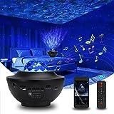 Stjärnhimmel projektor, Galaxy Star lampa, Starry Night Light med Bluetooth Timer fjärrkontroll musikspelare, roterande vatte