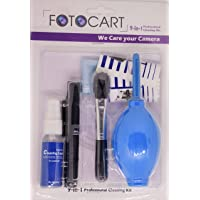 FotoCart Professional Clean Pro 9 in 1 Multi-Purpose Cleaning Kit for Cameras, Lenses, Binoculars, LCD, Laptops…